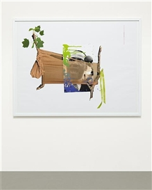 Artwork by Kelley Walker, Park Avenue Panty Hose plus Staples, Ribbons and Twigs with Leaves; Martin Luther King, Made of CD-ROM and color digital print