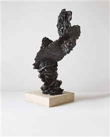 Artwork by Bryan Hunt, Cairn #I, Made of bronze on granite base and granite plinth