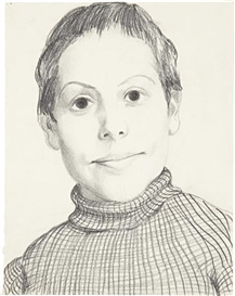 Artwork by John Currin, Sister, Made of graphite on paper