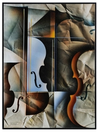 Artwork by Leonardo Nierman, Sonata, Made of mixed media on canvas