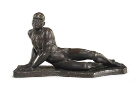 Artwork by Richmond Barthé, 'Awakening of Africa', Made of bronze with brown patina