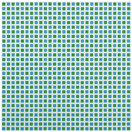 Artwork by François Morellet, 1/2 BLEU 1/2 VERT, Made of acrylic on canvas