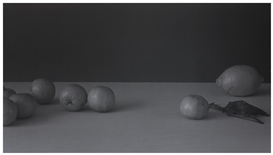 Artwork by Patrick Faigenbaum, NATURE MORTE, Made of black and white photograph mounted on aluminum