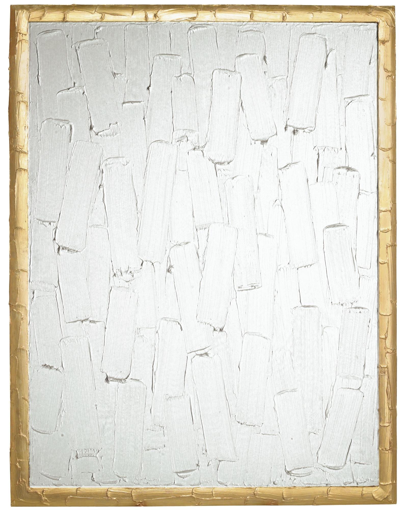 bertrand lavier peinture blanche et dor e no 3. Black Bedroom Furniture Sets. Home Design Ideas