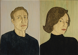 Stephan Balkenhol, 2 Works : Man l ; Woman II
