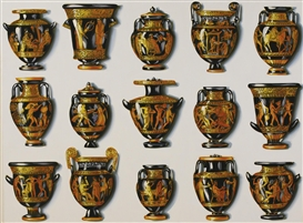 Artwork by Lisa Milroy, Greek Vases, Made of oil on canvas
