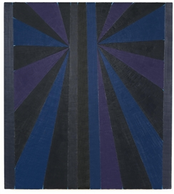 Artwork by Mark Grotjahn, Untitled (Blue Butterfly), Made of oil on canvas over panel