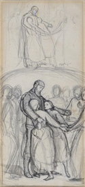 Sir John Everett Millais, A study for The Ransom (sometimes called The Hostages)