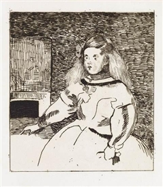 Artwork by Édouard Manet, L'Infante Marguerite, Made of Etching printed in brownish black on cream laid paper