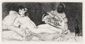 Artwork by Édouard Manet, Olympia, Made of Etching printed in black on cream laid paper