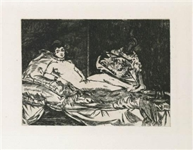 Artwork by Édouard Manet, Olympia (Grande Planche), Made of Etching printed in black on cream laid paper