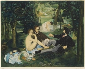 Artwork by Édouard Manet, Le Déjeuner sur l'herbe, Made of Color aquatint and etching