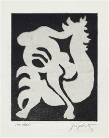 Artwork by Jacques Lipchitz, 4 works: Chemin d'exile; with others, Made of aquatints with etching