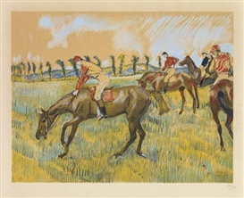 Artwork by Edgar Degas, Avant la Course, Made of Color lithograph