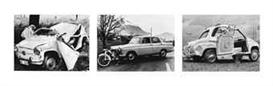 Artwork by Arnold Odermatt, 3 Works: Sammelnummer von drei Fotografien: Stansstad, 1967 Stans, 1959 Wolfenschiessen, 1957 (Aus der Serie Karambolage), Made of Gelatin silver prints