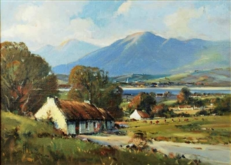 Irish Cottages at Russapena, County Donegal By Henry Mclaughlin ,1993