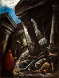 Artwork by Eugene Higgins, The Collapse, Made of Oil on canvas