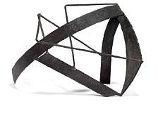 Robert Jacobsen, Sculpture of black painted iron