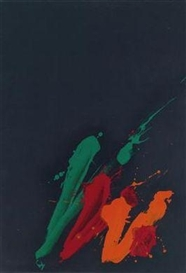 Artwork by Markus Prachensky, Untitled, Made of colour lithograph