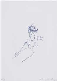 Artwork by Tracey Emin, H.R.H, Made of Polymer gravure etching printed in colors, zerkall paper