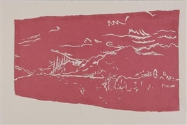 Artwork by Barry Flanagan, 3 Works: Loch Tarff; Abbey; Stones, Made of Linocuts printed in color, wove paper