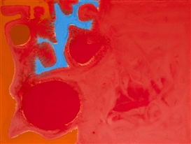 Artwork by Patrick Heron, Ceruleum Fragment in Reds, Made of gouache
