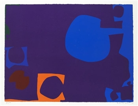 Artwork by Patrick Heron, Blue and Deep Violet with Orange, Brown and Green, Made of silkscreen
