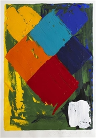 Artwork by John Hoyland, Untitled, Made of acrylic on paper