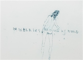 Tracey Emin, I'm Walking Around My World