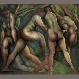 Artwork by Lorser Feitelson, Bathers, Made of oil on canvas