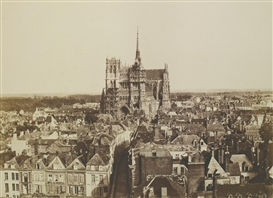 Artwork by Édouard-Denis Baldus, AMIENS CATHEDRAL, Made of albumen print