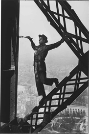 Artwork by Marc Riboud, The Painter of the Eiffel Tower, Paris, 1953, Made of gelatin silver print