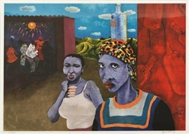 Artwork by Zwelethu Mthethwa, SHEBEEN, Made of coloured lithograph