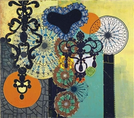 Artwork by Beatriz Milhazes, Madame Caduvel, Made of acrylic on canvas