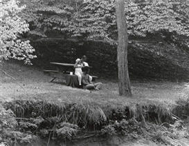 Roy DeCarava, Couple in Prospect Park
