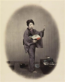 Felice A. Beato, An album containing 17 artfully hand-colored photographs of Japan