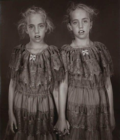 Artwork by Mary Ellen Mark, Heather and Kelsey Dietrick, Twinsburg, Ohio, Made of Unique Polaroid print