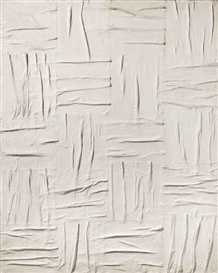 Artwork by Piero Manzoni, Achrome, Made of kaolin on canvas
