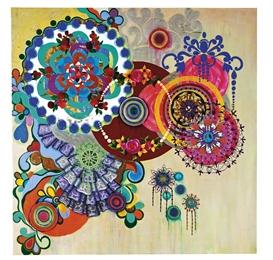 Artwork by Beatriz Milhazes, DANÇA DOS REIS, Made of mixed media on canvas