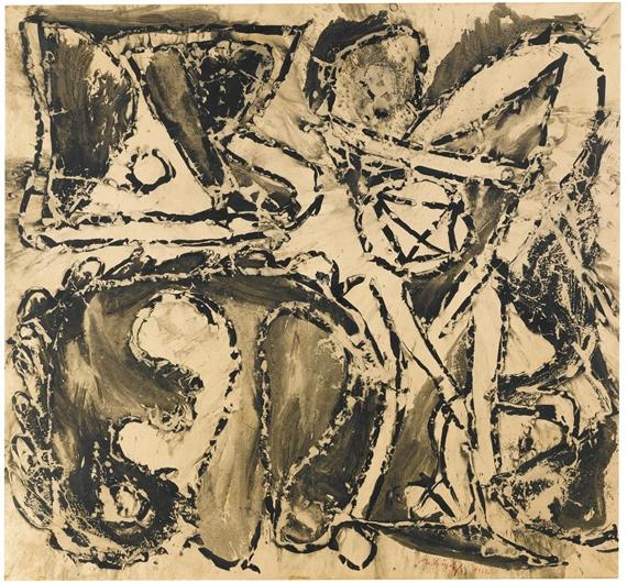 Alechinsky pierre jeunes voisins 1964 mutualart for Alechinsky oeuvres