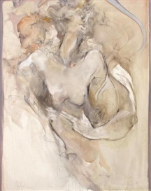 Jürgen Görg, 2 works: Female Nude; Couple Embracing