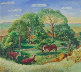 John Steuart Curry, Kansas Pasture