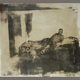 Artwork by Zwelethu Mthethwa, Boy on a Bed, Made of Lithograph with watercolour