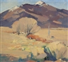 Hans Paap, Snow Capped Mountains, Taos, N.M.