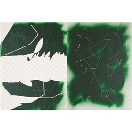 Artwork by Jeff Elrod, Deep Green Scratch, Made of Acrylic on canvas