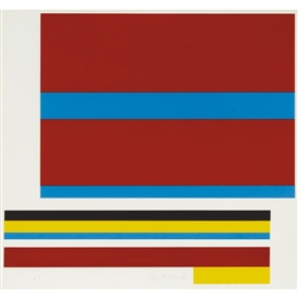 Artwork by Ilya Bolotowsky, COMPOSITION, Made of Color screenprint