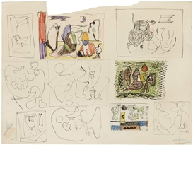 Ilya Bolotowsky, Untitled, Studies