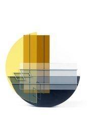 Artwork by Octavio Herrera, Relief Ligne Descriptive Gris-Bleu, Made of Acrylic on P.V.C.