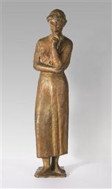 Artwork by Gerhard Marcks, Sinnende, Made of Bronze with gilt patina
