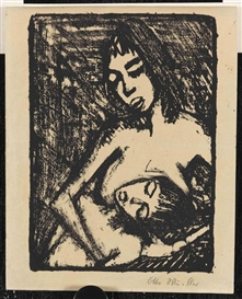 Artwork by Otto Mueller, Mutter und Kind 2, Made of Lithograph
